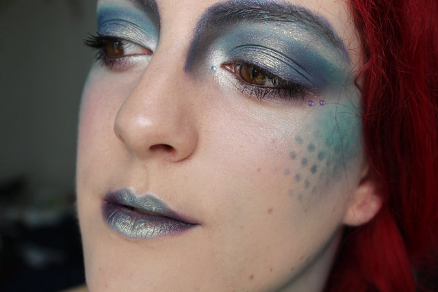 maquillage halloween sirene