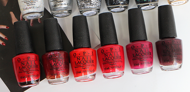 opi holiday collection red