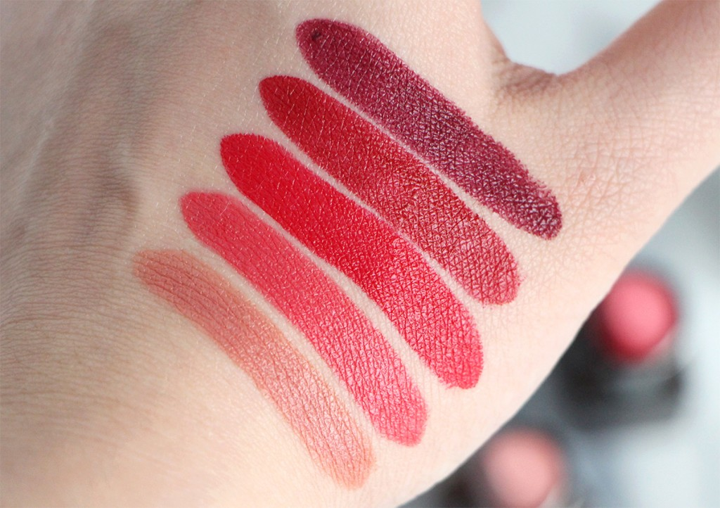 laura mercier lip velours swatches