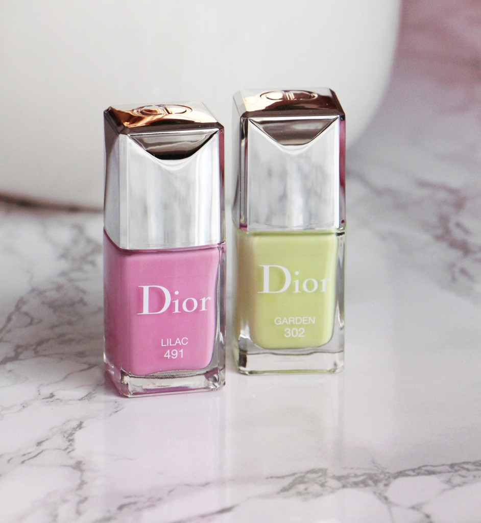 dior lilac et garden nailpolishes