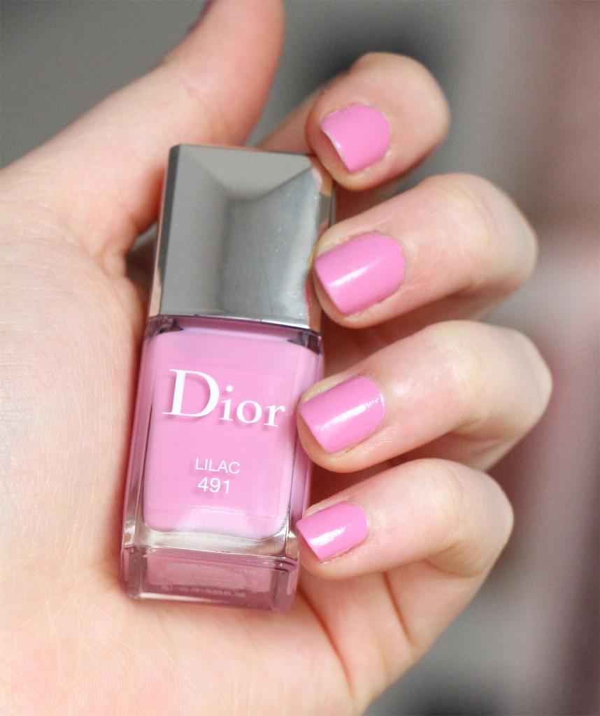 dior lilac nails