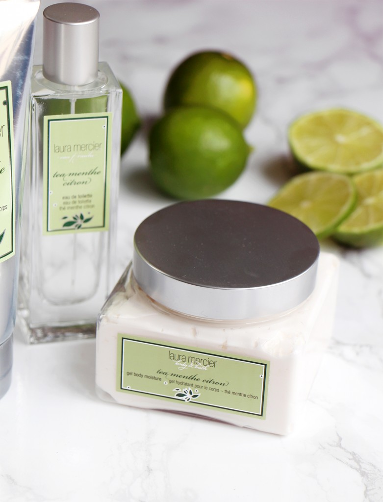 laura mercier the menthe citron bath collection