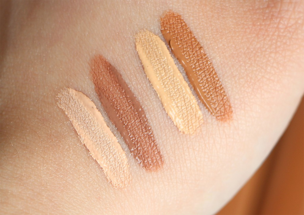 nyx face duo sculpt and highlight swatches 1 and 2