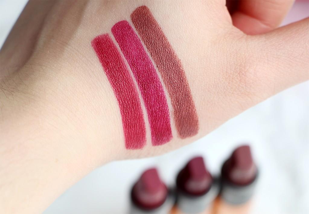 kiko velvet passion matte lipstick swatch 317 318 319