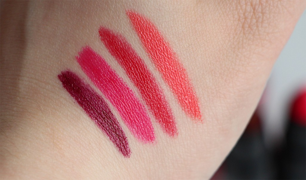 loreal bold sexy balms swatches 1