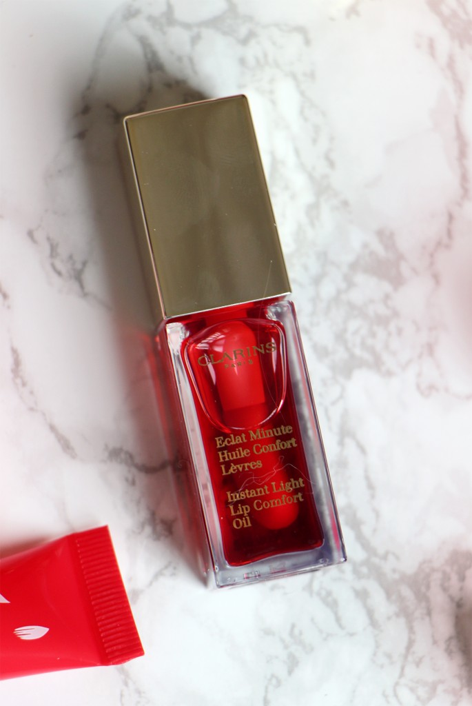 clarins eclat minute huile confort levres new