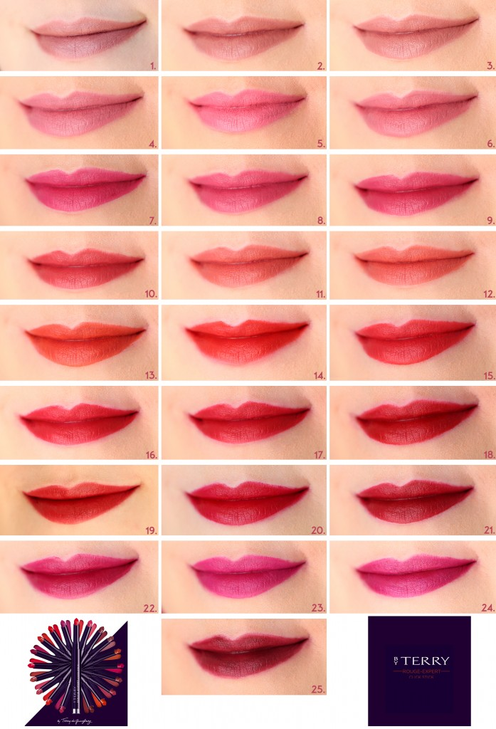 by terry rouge expert click stick lip swatches 25 shades collection copie