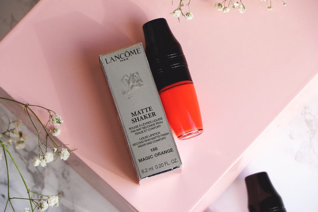 matte shaker lancome magic orange shade