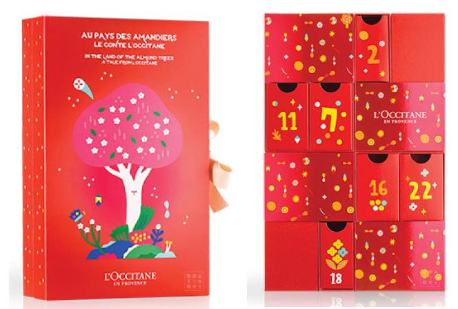 calendrier de l'avent 2019 l'occitane